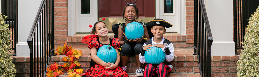 By putting a teal pumpkin on your doorstep, you are signaling that you have non-food treats for trick or treaters.