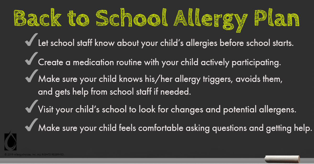 Make school less stressful with planning for the allergic child & school staff. Parents & educators can work together to help your allergic child stay safe.