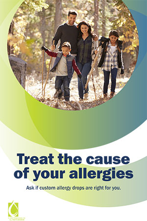 Sample of a poster promoting allergy drops