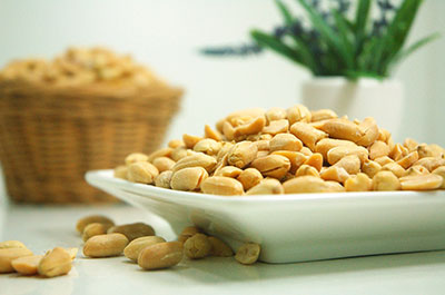 A tray of peanuts